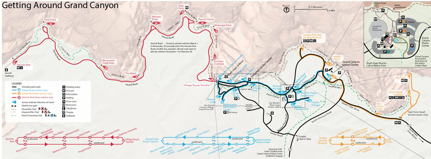 Maps Scenic Airlines - Map of grand canyon