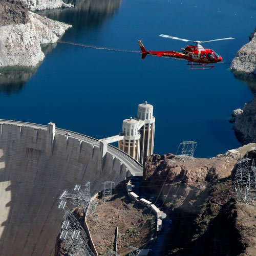 Hoover dam deluxe bus and helicopter tour scenic airlines for Hoover dam motor coach tour