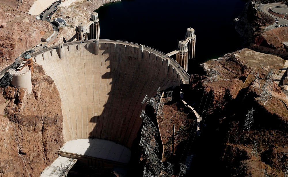 See remarkable aerial views of the Hoover Dam.