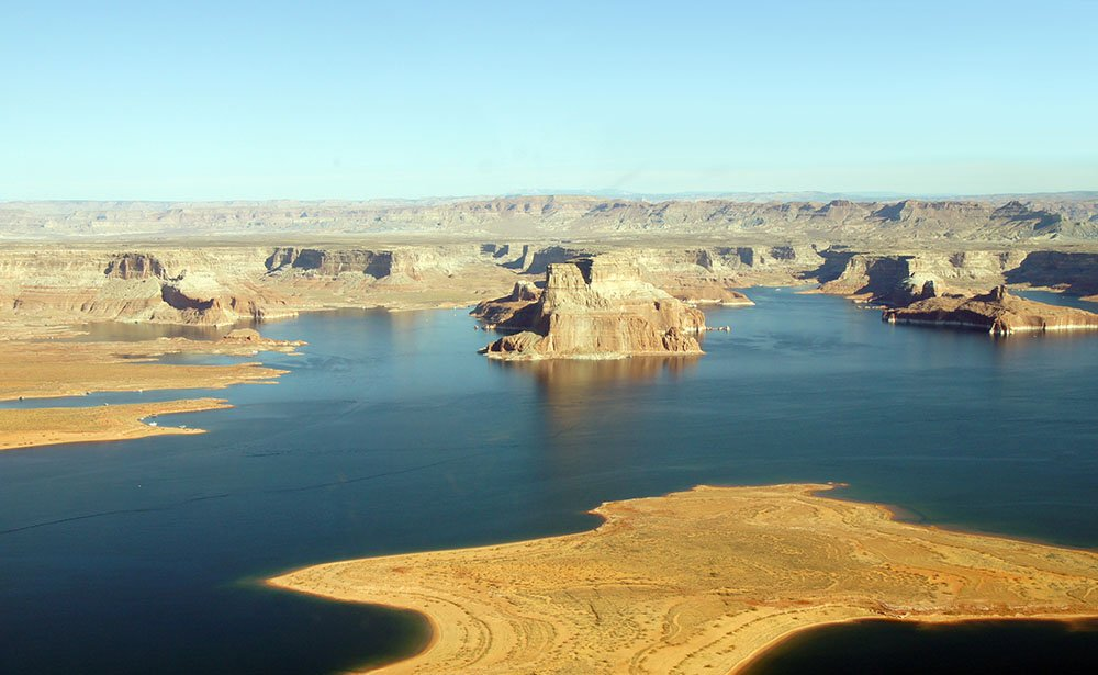 The glimmering expanse of Lake Powell