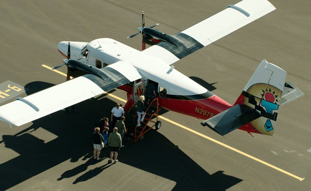 Twin Otter aircraft ready for take-off