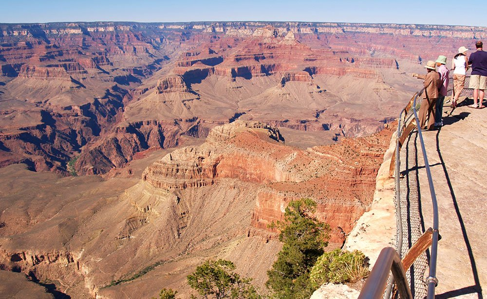 Here the canyon is at its deepest and widest.