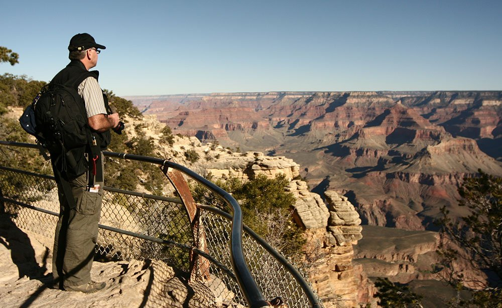 Venture right out to the edge of the canyon rim.