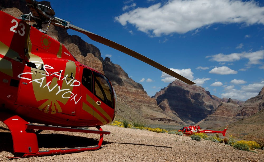 A daring helicopter descent to the floor