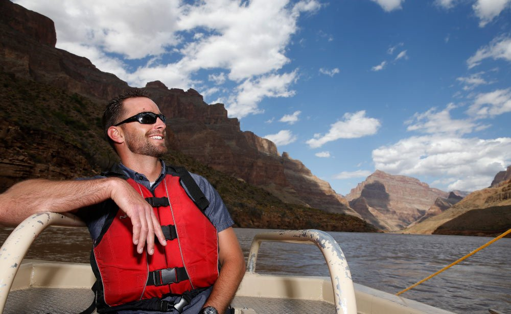 Course the crystal waters of the Colorado River.