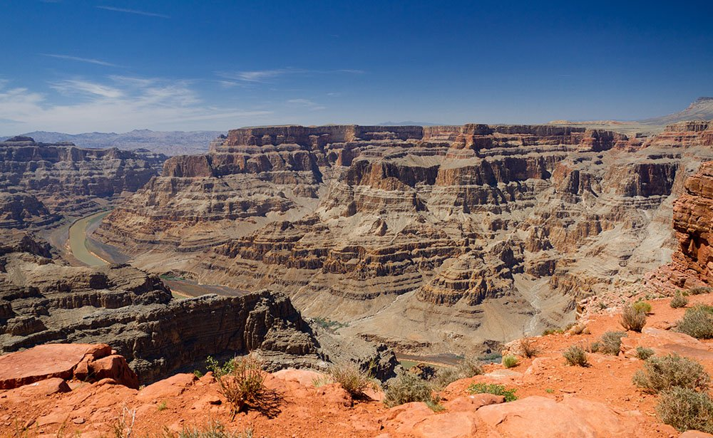 The West Rim offers unique canyon formations found nowhere else.