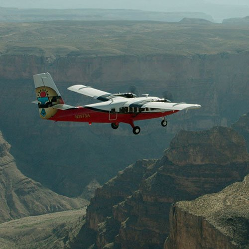 West Rim Motorcoach with Airplane Tour